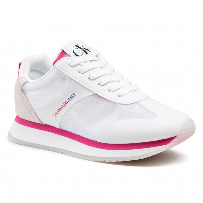 Sneakersy CALVIN KLEIN JEANS - Runner Sneaker Laceup Ny YW0YW00070 Bright White YAF