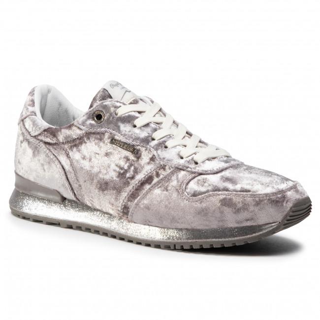 Sneakersy PEPE JEANS - Gable Velvet PLS30726 Grey Marl 933