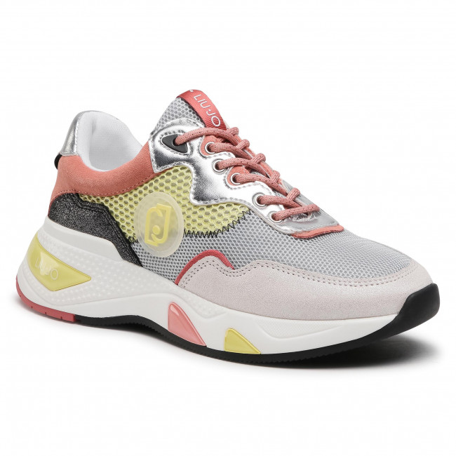 Sneakersy LIU JO - Hoa 10 BA1037 TX085 White/Yellow S1415
