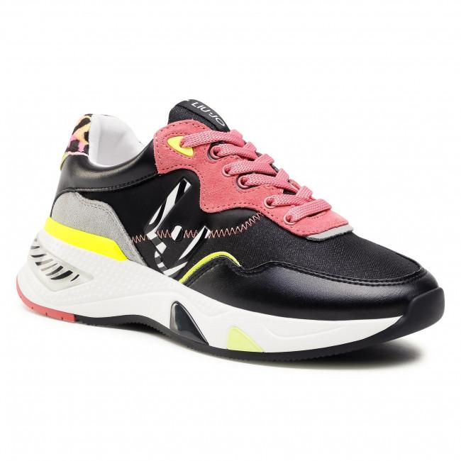 Sneakersy LIU JO - Hoa 10 BA1037 TX159 Black/Begon S1047