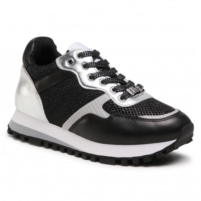 Sneakersy LIU JO - Wonder 1 BA1049 PX134 Black/Silver 01039