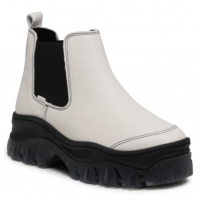 Kotníková obuv s elastickým prvkom BRONX - 47344-A Off White/Black 3104