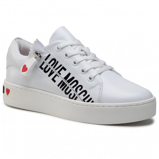 Sneakersy LOVE MOSCHINO - JA15093G1CIA0100 Bianco