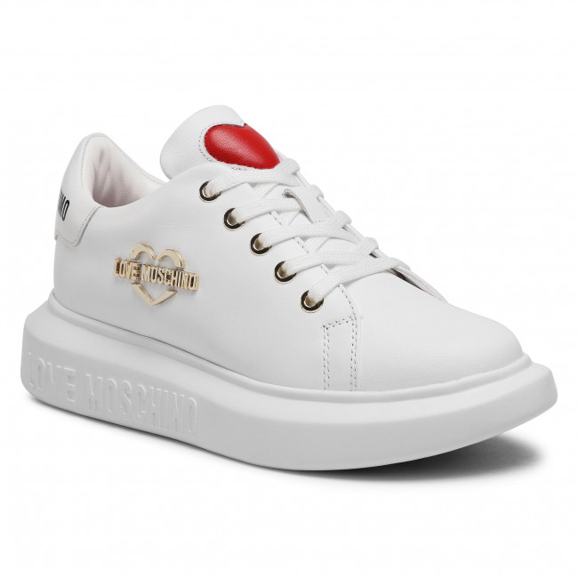 Sneakersy LOVE MOSCHINO - JA15204G1CIA0100 Bianco