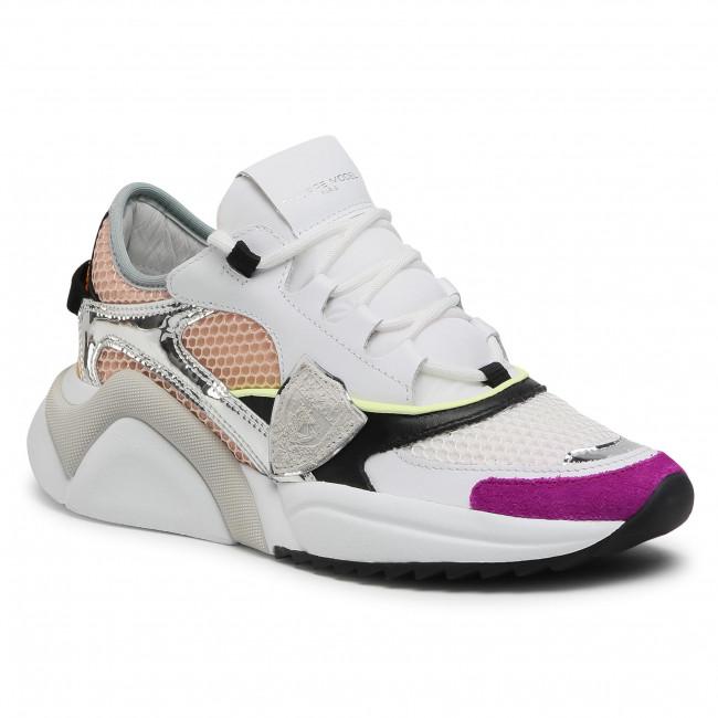 Sneakersy PHILIPPE MODEL - Eze EZLD WP03 Blanc Rose