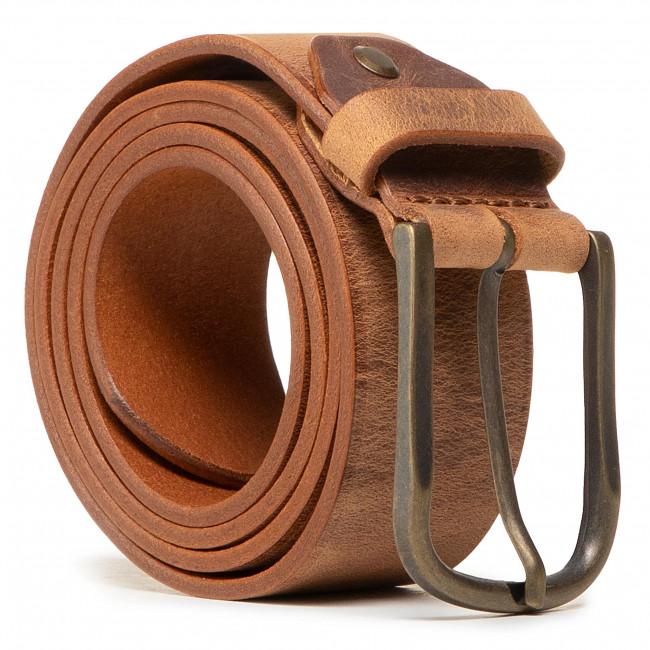 Opasok Pánsky WRANGLER - Authentic Belt W0G6U1H16 Camel Brown