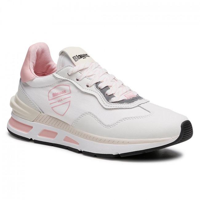 Sneakersy BLAUER - S1HILESXL02/NEL White/Pink