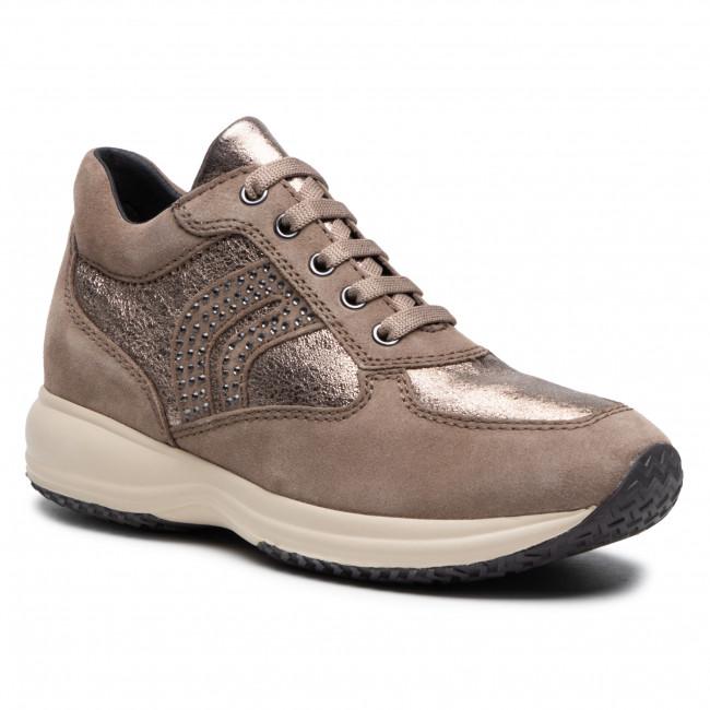 Sneakersy GEOX - D Happy C D5462C 022CF C5M9H Dk Beige/Lead