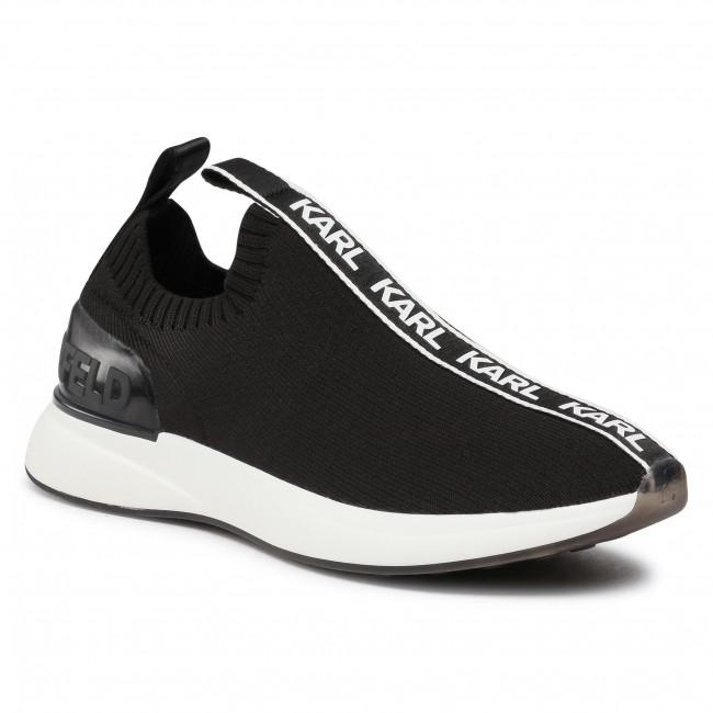 Sneakersy KARL LAGERFELD - KL62115 Black Knit Textile
