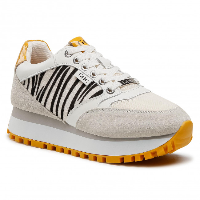 Sneakersy GOE - HH2N4001 White/Yellow