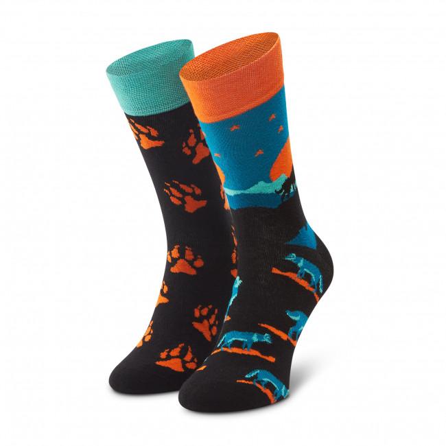 Ponožky Vysoké Pánske DOTS SOCKS - D20WF-SX-031-X Čierna Farebná