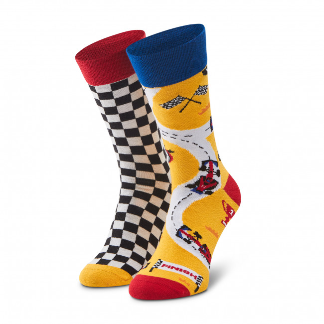 Ponožky Vysoké Pánske DOTS SOCKS - D20WF-SX-032-X Farebná Žltá