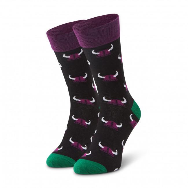 Ponožky Vysoké Pánske DOTS SOCKS - D20WF-SX-064-X Čierna Farebná