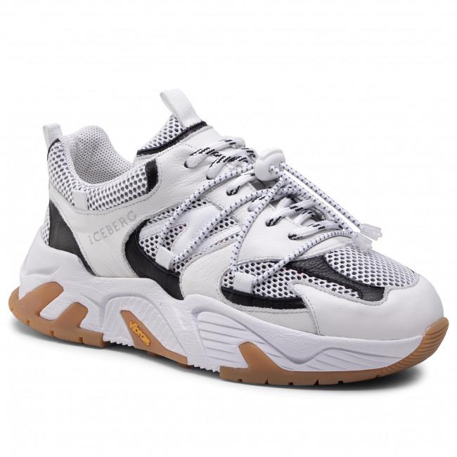 Sneakersy ICEBERG - 21EID1811A Bianco Ottico/Nero