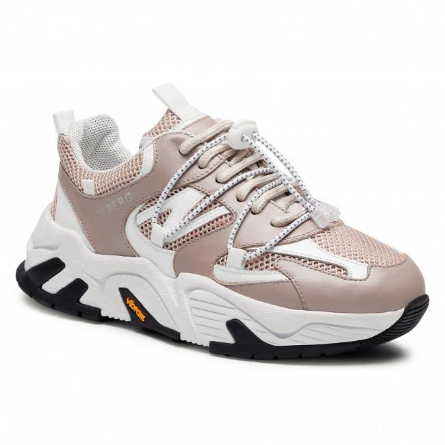 Sneakersy ICEBERG - 21EID1811A  Kaky/Bianco