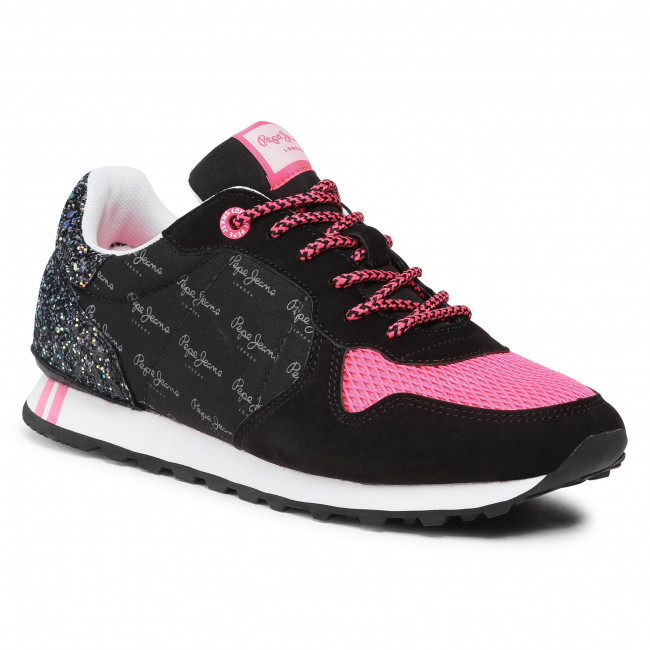 Sneakersy PEPE JEANS - Verona W Serie PLS31115  Black 999