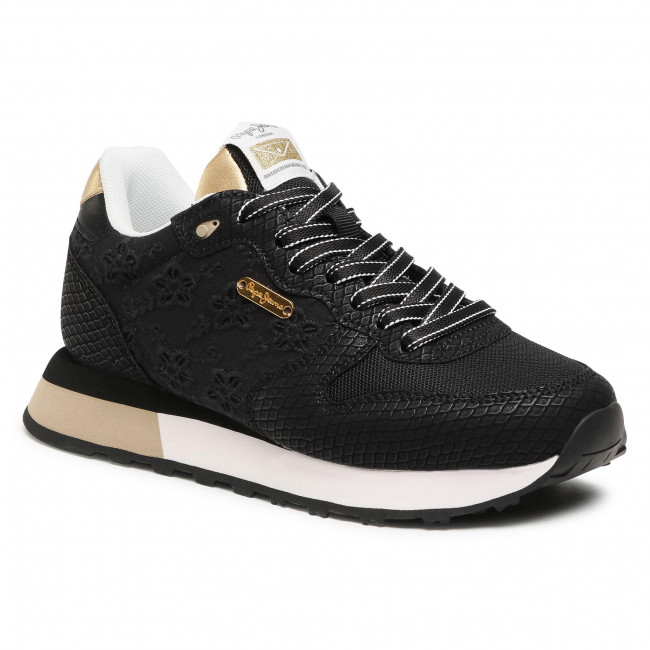 Sneakersy PEPE JEANS - Dover Angy PLS31160   Black 999