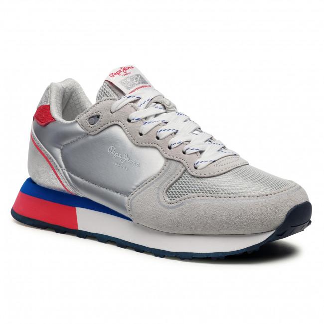 Sneakersy PEPE JEANS - Dover Britt PLS31163 Silver 934