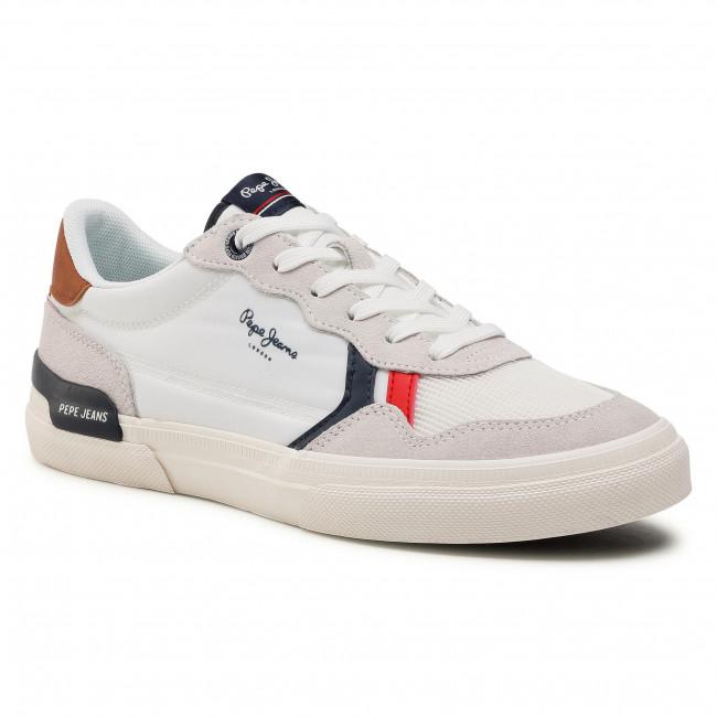 Sneakersy PEPE JEANS - Kenton Britt Man PMS30707 White 800