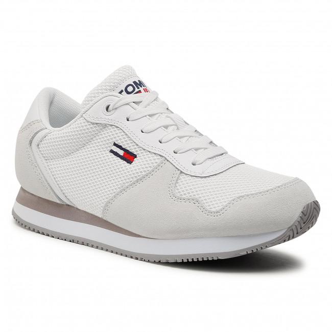 Sneakersy TOMMY JEANS - Mono Sneaker EN0EN01364 White YBR