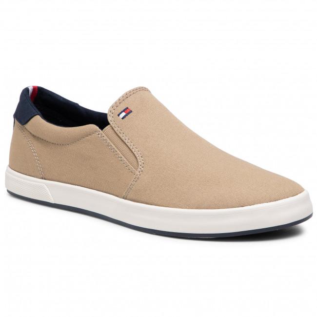 Tenisky TOMMY HILFIGER - Iconic Slip On Sneaker FM0FM00597 Camel
