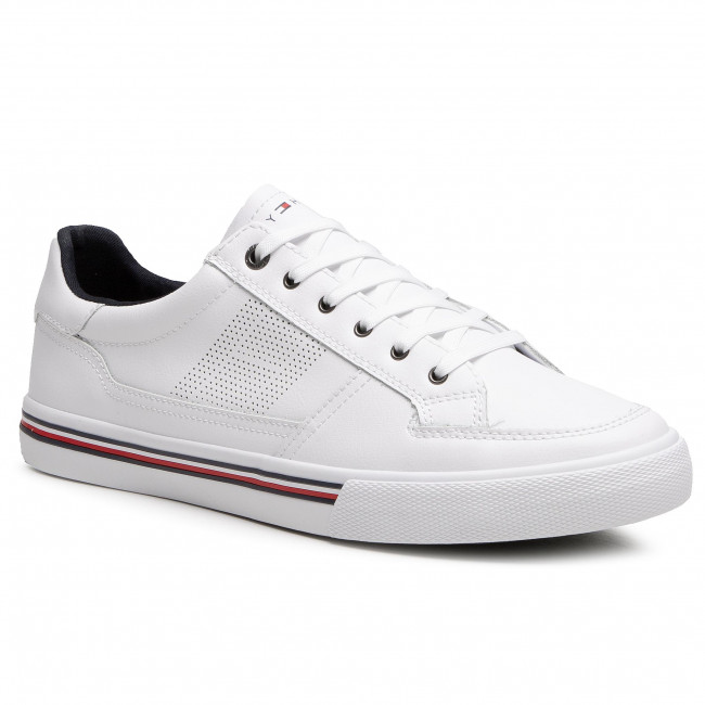 Sneakersy TOMMY HILFIGER - Core Corporate Leather Sneaker FM0FM03393 White YBR