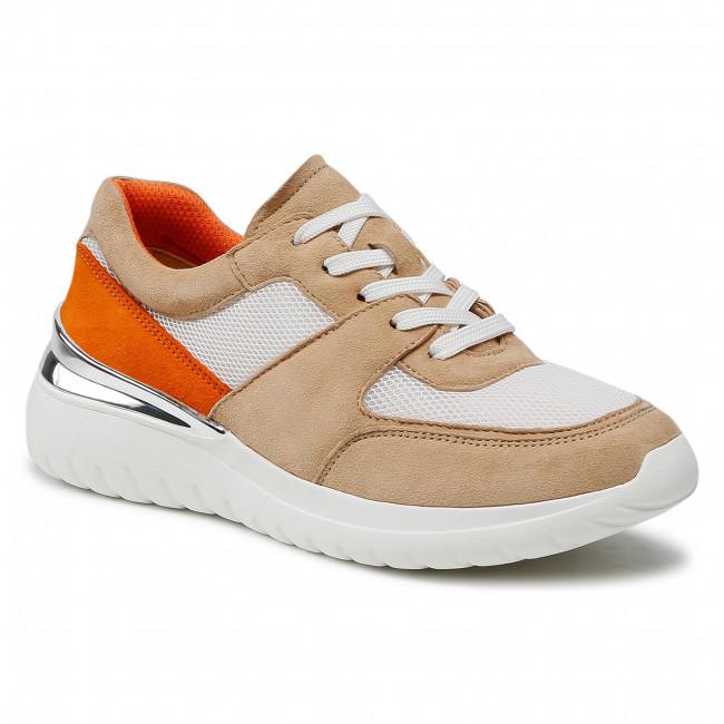 Sneakersy CAPRICE - 9-23720-26 Oak/Orange 461