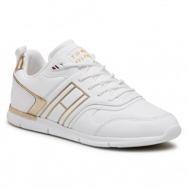 Sneakersy TOMMY HILFIGER - Metallic Lightweight Sneaker FW0FW05693 Gold 0LJ