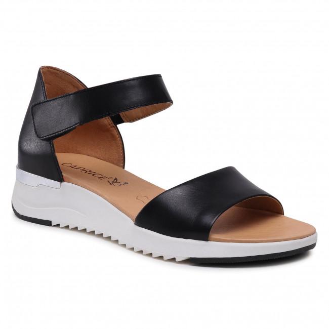 Sandále CAPRICE - 9-28706-26 Black Nappa 022