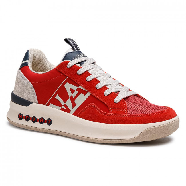 Sneakersy NAPAPIJRI - Egret NP0A4FK8R Cherry Red