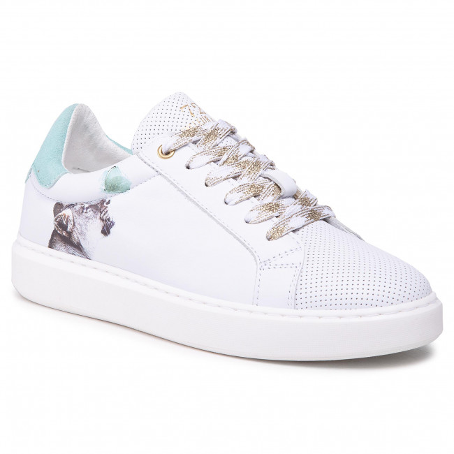 Sneakersy CYCLEUR DE LUXE - Fox-Poppy CDLW211215 White/Cameo Green