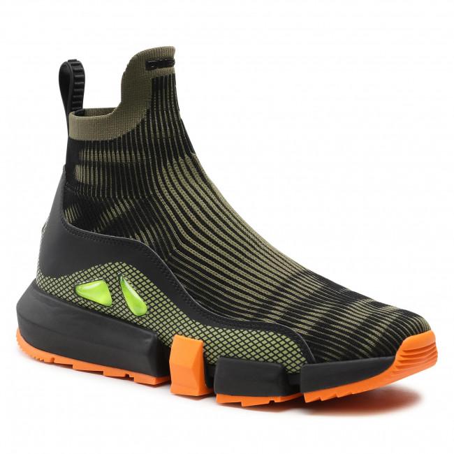 Sneakersy DIESEL - H-Padola Mid Trek Y02502 P3814 H8423 Black/Green Olive