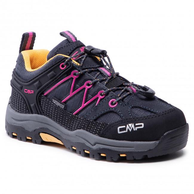 Trekingová obuv CMP - Kids Rigel Low Trekking Shoe Wp 3Q54554 Antracite/Bouganville 54UE