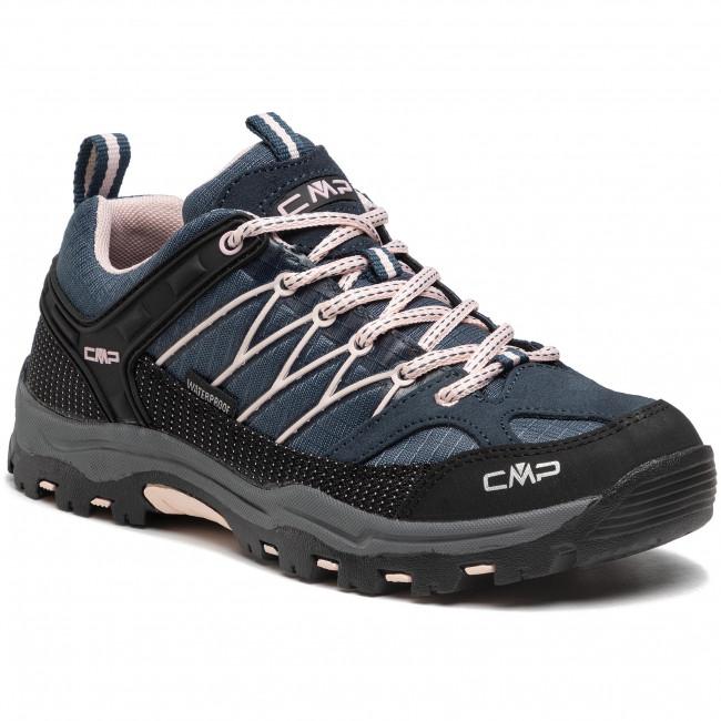 Trekingová obuv CMP - Rigel low Trekking Shoe kids Wp 3Q54554J Asphalt/Rose 54UG