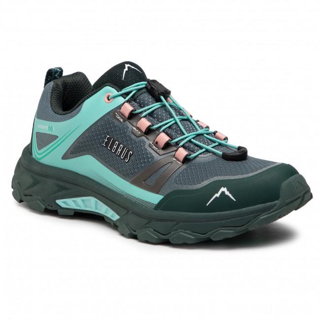 Trekingová obuv ELBRUS - Ergides Wp Wo's Balsam Green/Green Gables/Coral Almound