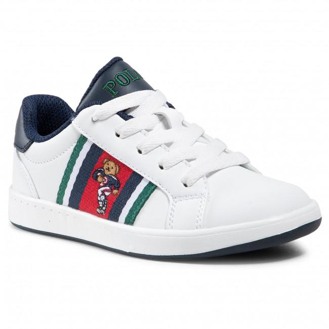 Sneakersy POLO RALPH LAUREN - Oeklynn II Bear RF102541 White/Red/Nvy/Grn