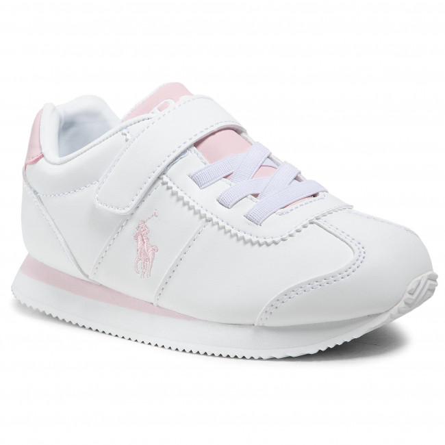 Sneakersy POLO RALPH LAUREN - Pony Jogger Ps RF102916 White/Ltpink