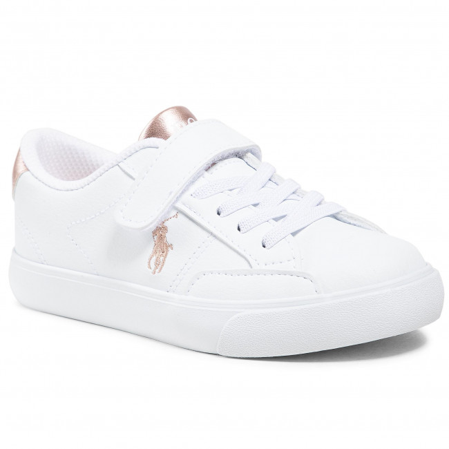 Sneakersy POLO RALPH LAUREN - Theron IV Ps RF102988 White/Rose Metal
