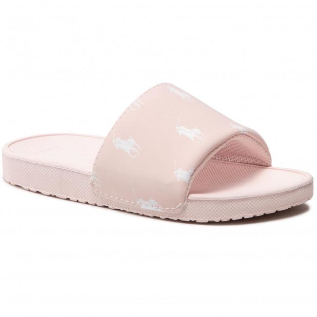 Šľapky POLO RALPH LAUREN - Gansett RF103033 Light Pink/White