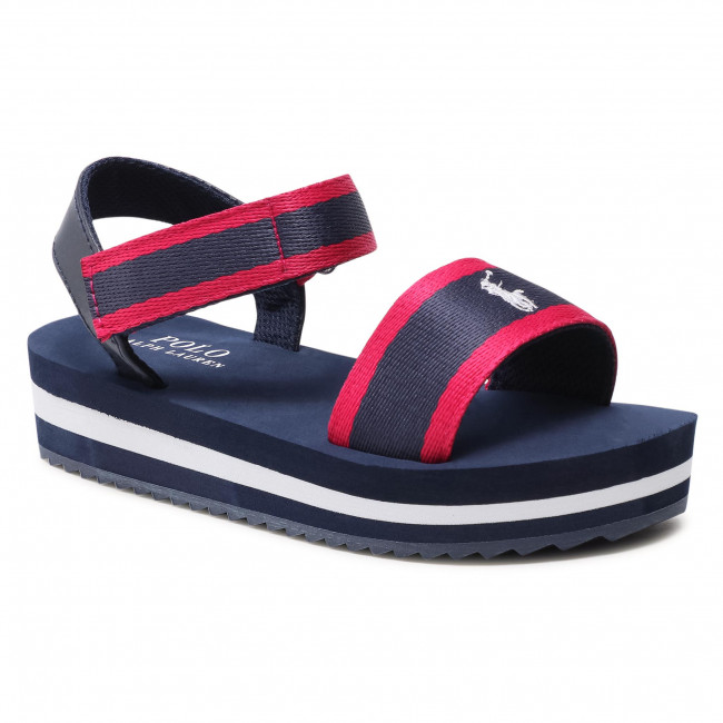 Sandále POLO RALPH LAUREN - Marlina RF103038 Navy/Pink
