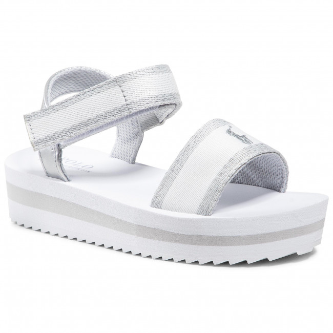 Sandále POLO RALPH LAUREN - Marlina  White/Silver