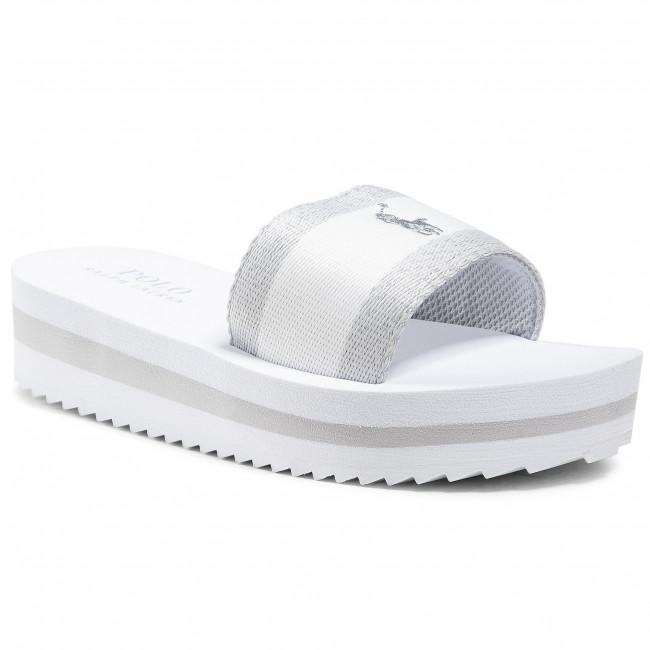 Šľapky POLO RALPH LAUREN - Mariella RF103043 White/Silver