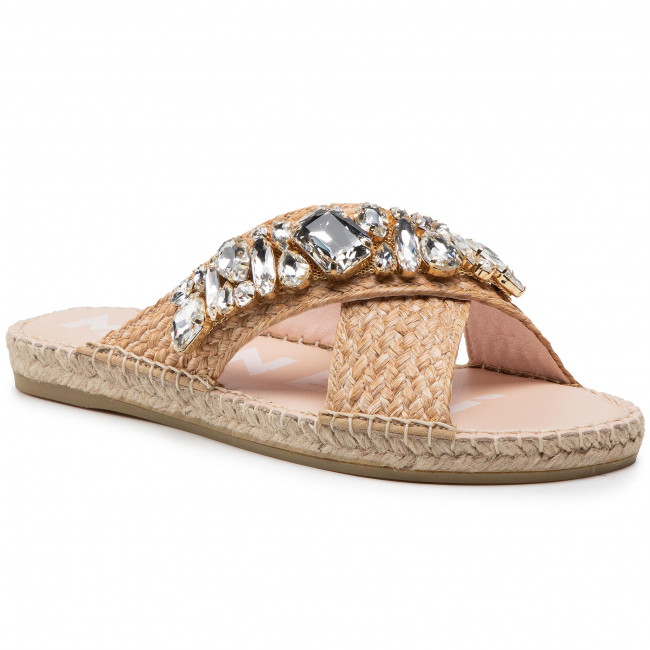 Espadrilky MANEBI - Flat Sandals G 5.1 JS Natural Diamonds Belts