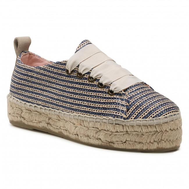 Espadrilky MANEBI - Sneakers D U 0.4 E0 Blue/Beige Stripes