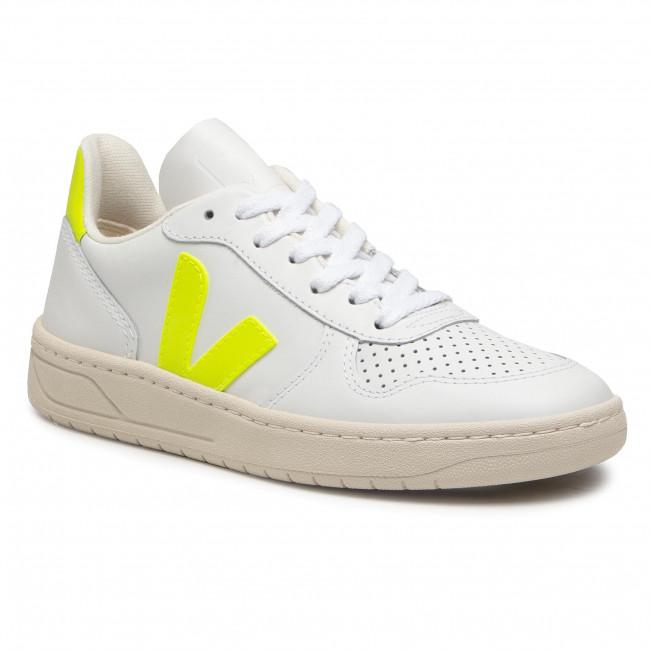 Sneakersy VEJA - V-10 VX022086 Extra White/Jaune Fluo