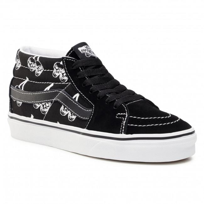 Sneakersy VANS - Sk8-Mid VN0A3WM34WW1 (New Varsity) Blk/Tr Wht