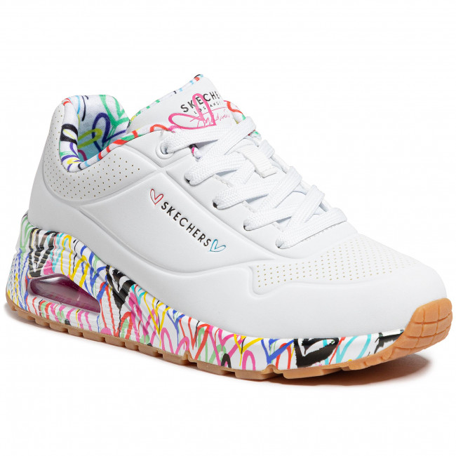Sneakersy SKECHERS - Loving Love 155506/WHT White