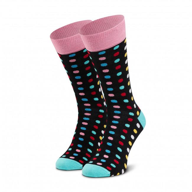 Ponožky Vysoké Pánske DOTS SOCKS - D20WF-SX-002-X Čierna Farebná