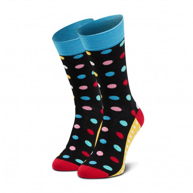 Ponožky Vysoké Unisex DOTS SOCKS - D20WF-SX-003-X-041046 Čierna Farebná
