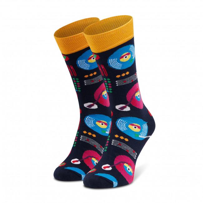 Ponožky Vysoké Pánske DOTS SOCKS - D20WF-SX-061-X Čierna Farebná